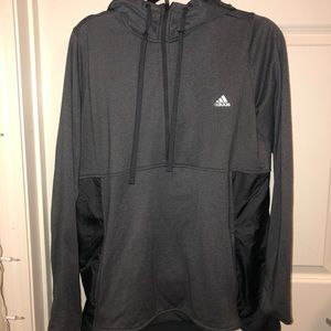 Gray Adidas Pull Over Zip Up